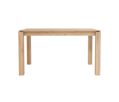 Oak Slice dining table 140 x 80 x 77 cm