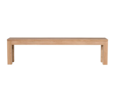 Oak Straight bench 200 x 35 x 45 cm