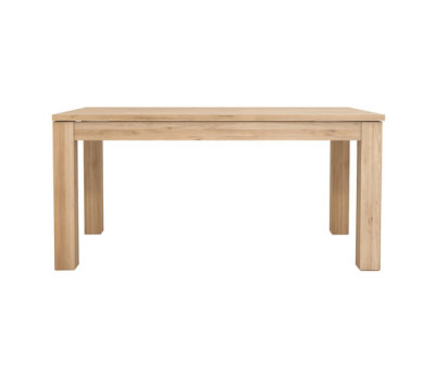 Oak Straight extendable dining table by Ethnicraft