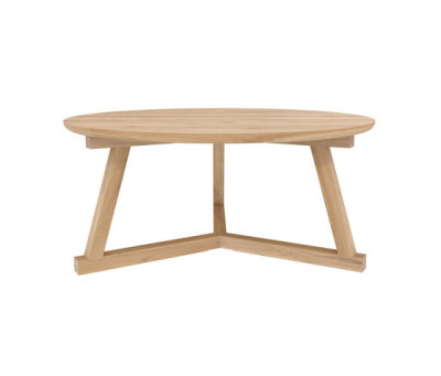 Oak Tripod coffee table 90 x 90 x 40 cm