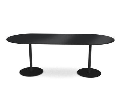 Odette Table 210 x 90 x 72 cm Black - Laminate