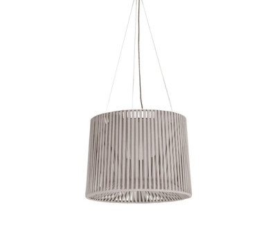 """Oh"" lamp Hand-woven suspension lamp by Expormim"