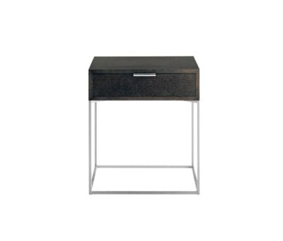 Oscar | 642 Side Table Wenge Stained Top, Chromium Plated Frame