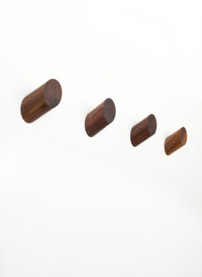 Parallax Walnut Round Knob by Farrah Sit