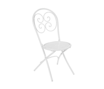Pigalle folding chair - set of 4 Glossy White