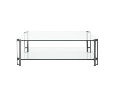 Pioneer T24D Coffee table Glass, Brass Partially Gloss Legs