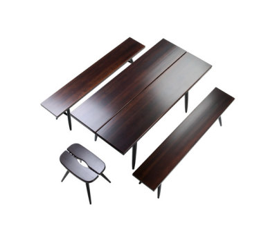 Pirkka Table with 2 Benches by Artek