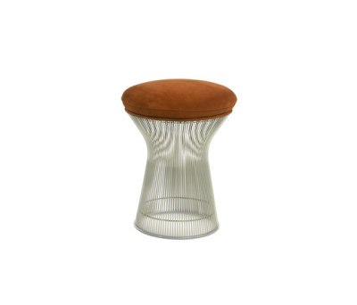 Platner Stool Crociera Bluish Green 52CRO, Polished Nickel