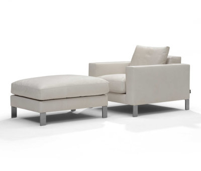 Plaza armchair/footstool by Linteloo