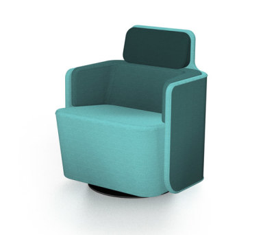 PodSeat with low backrest by Martela Oyj