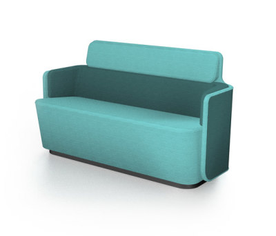 PodSofa with low backrest by Martela Oyj
