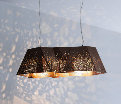 Riddled Plywood Chandelier by HORM.IT