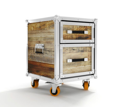 Roadie SIDE TABLE-CHEST W/ 2 DRAWERS by Karpenter