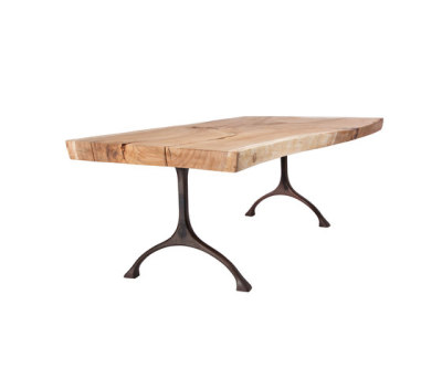 Rough Dining Table Black Iron Legs, 300 cm