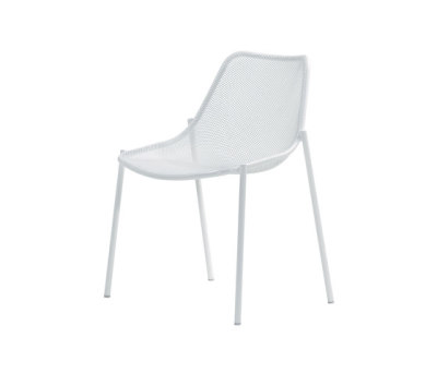 Round chair - set of 4 Glossy White