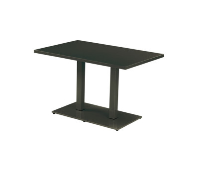 Round rectangular table; 120x80 top Black