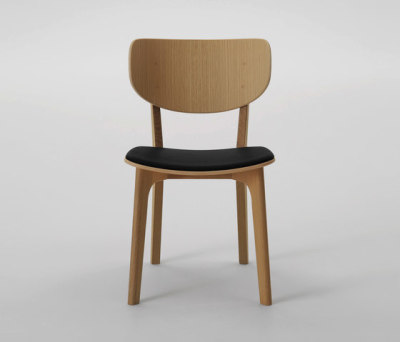 Roundish Armless Chair by MARUNI