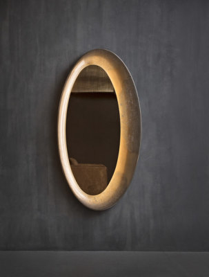 Saturno Wall mirror by Flou