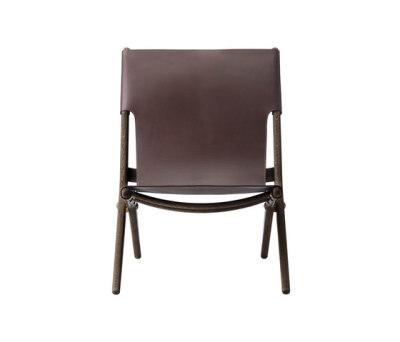 Saxe, smoked oak # brown leather dark oiled oak /brown leather