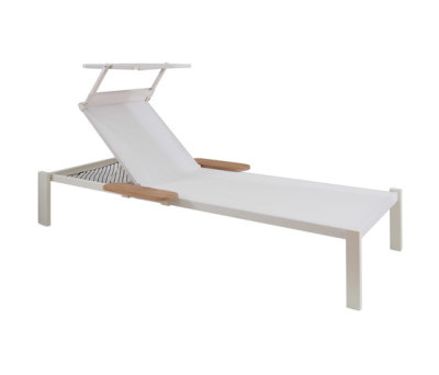 Shine stackable sunbed Matt White