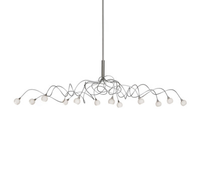 Snowball oval pendant light 12 by HARCO LOOR