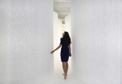 softwall   white textile by molo