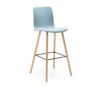 Sola barstool wooden base by Martela Oyj