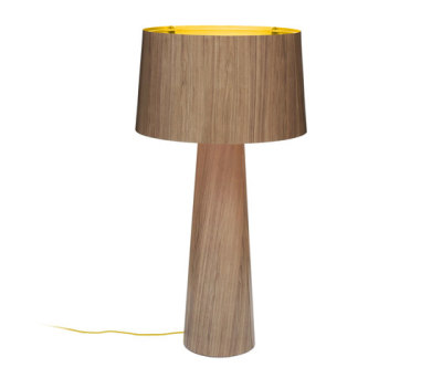 Sophie floor extra tall 1700 walnut gold by lasfera