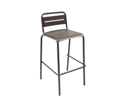 Star barstool - set of 4 Indian Brown