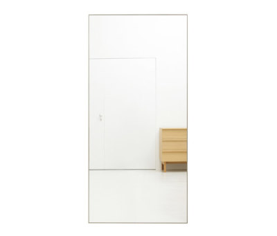Steel frame mirror by Bautier