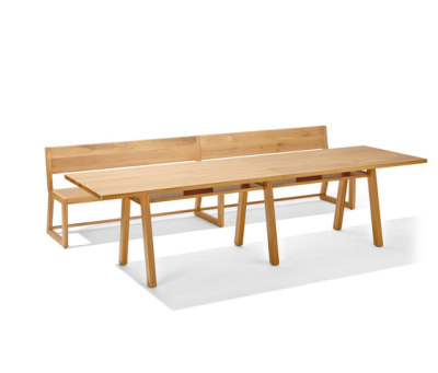 Stijl table and bench by Lampert