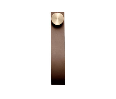 Stropp, brown # brass pack of 6 brass/brown leather
