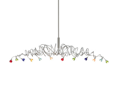 Sweet long pendant light 12-multicolor by HARCO LOOR