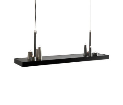 Table d'Amis hanging lamp long by Brand van Egmond