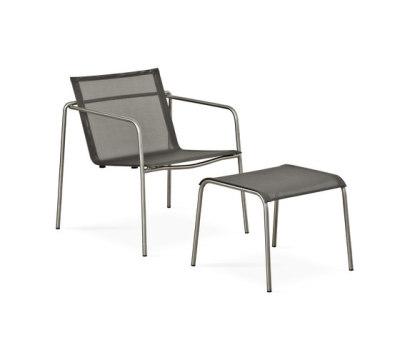 Taku lounge chair with footrest by Fischer Möbel