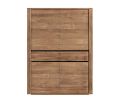 Teak Elemental storage cupboard - 4 doors - 2 drawers