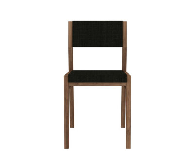 Teak Ex 1 chair - without armrest - Turkish Coffee
