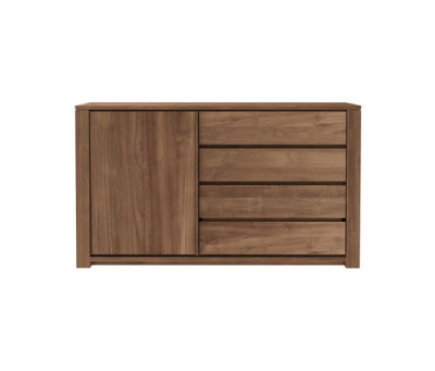 Teak Lodge sideboard - 1 opening door - 3 drawers