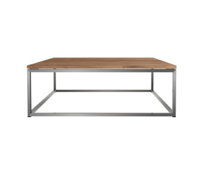 Teak Thin coffee table 100 x 100 x 35 cm