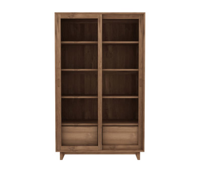 Teak Wave Book rack 110 x 46 x 183 cm