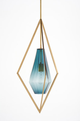Tetra Pendant Light - Blue by Farrah Sit