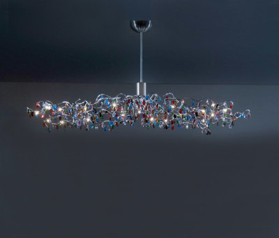 Tiara Oval Pendant light 24 by HARCO LOOR