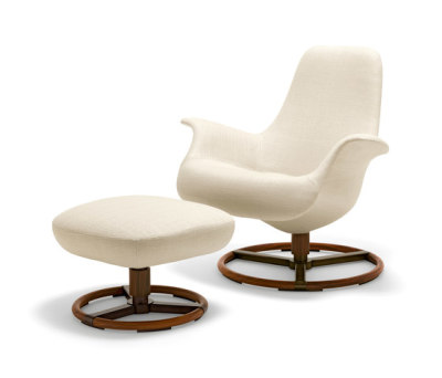 Tilt Armchair with Footrest by Giorgetti
