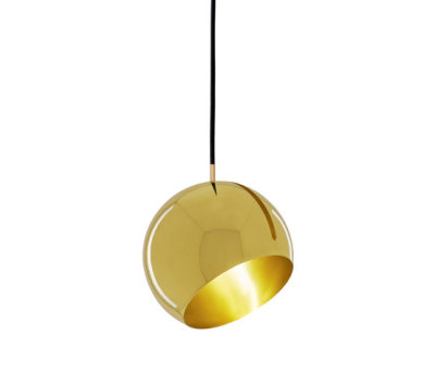 Tilt Globe Brass Pendant Lamp by Nyta