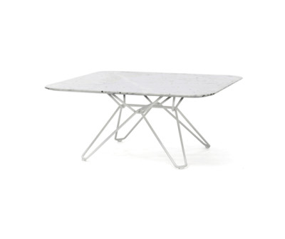 Tio Square Coffee Table Marble 85 x 85 x 38 cm Carrara Marble