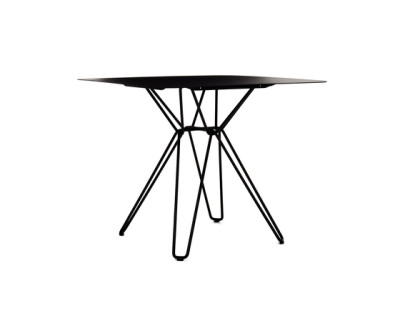 Tio Square Dining Table Metal 85 x 85 x 72 cm Black Metal