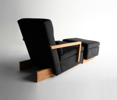 Trax Chair with Arms & Ottoman by Phase Design