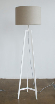 Tripod Lamp White by Farrah Sit