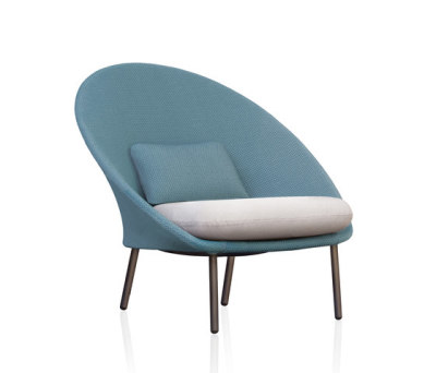Twins Low armchair 3D Mesh by Expormim