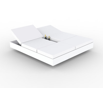 Vela 4 Reclining Backrest Daybed White